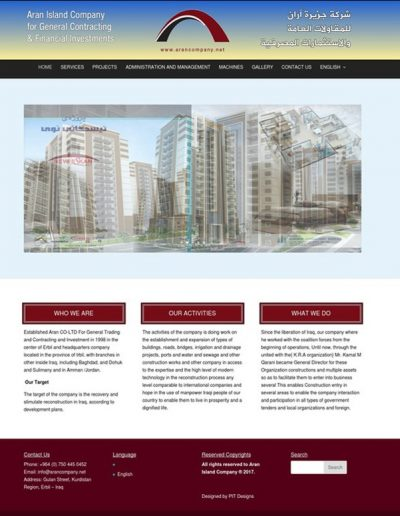 Aran-Company-Website