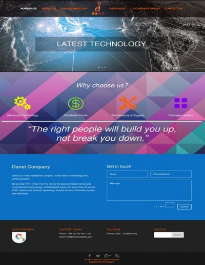 Danet-Company-Website
