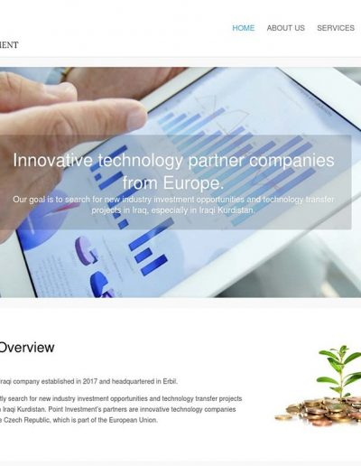 Point-Investment-company-website