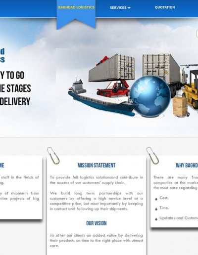 baghdad-logistics-website