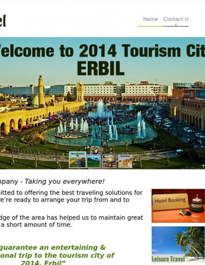 itravel-erbil-website