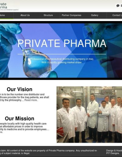 private-pharman-website